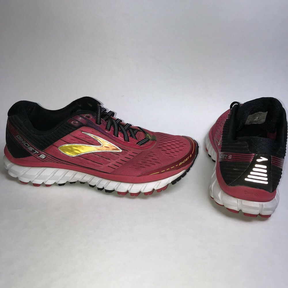 11c30975ca7c Details about Brooks Ghost 9 Women s Black Pink Running Athletic Sneakers  Shoes Size 7 B B995