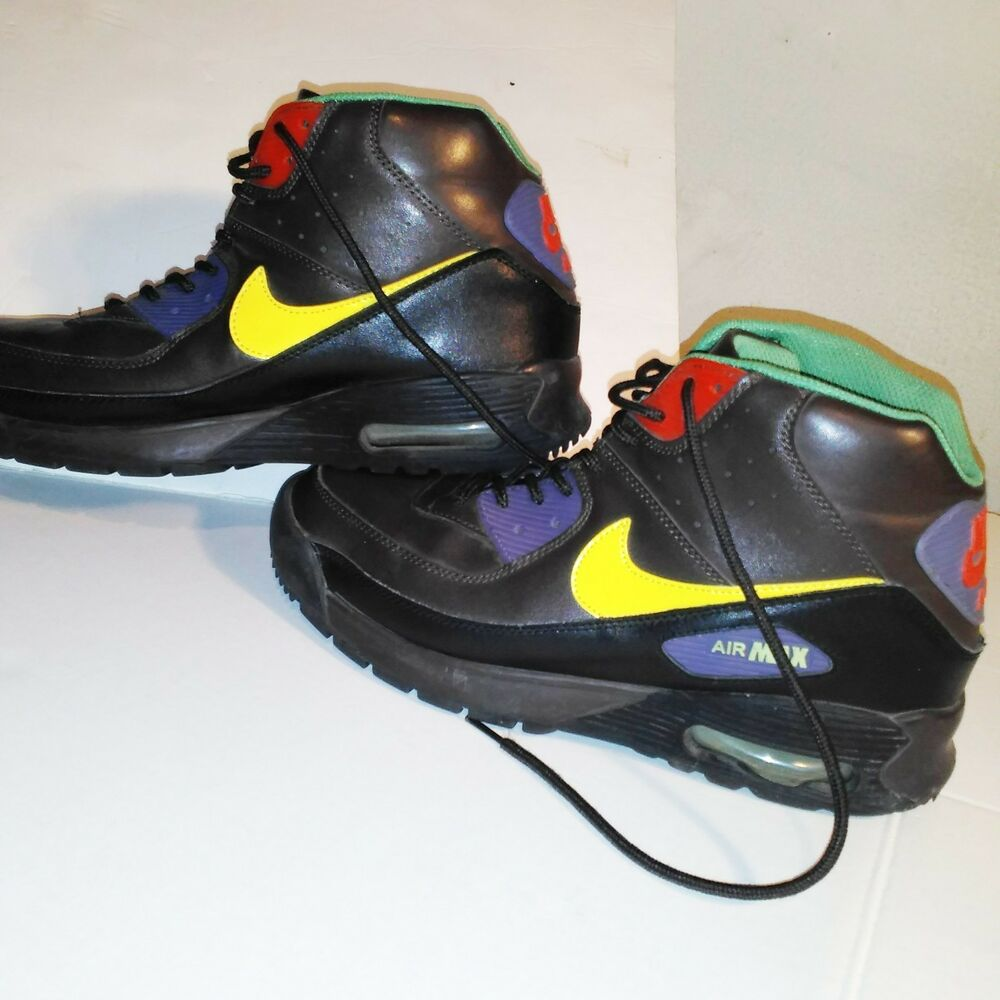 factory price 4e835 3ac7b Details about  RARE NIKE-AIR-MAX-90-Men s size 11.5  SNEAKER-BOOTS-BROWN-LEATHER-316339-271