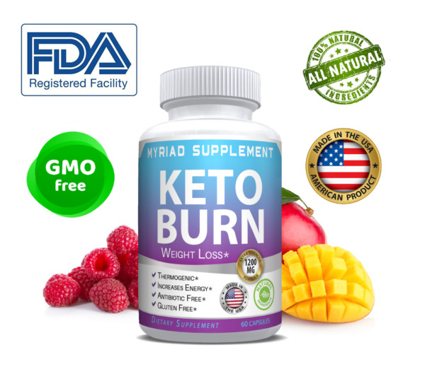 Keto Burn Diet Pills 1200 MG Best Ketosis Advanced Weight Loss Supplements