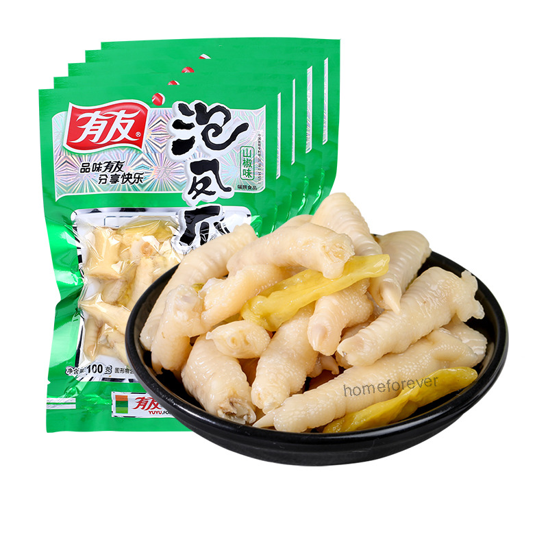 5 X 100g Chinese Instant Food Spicy Chicken Feet Vacuum Packed