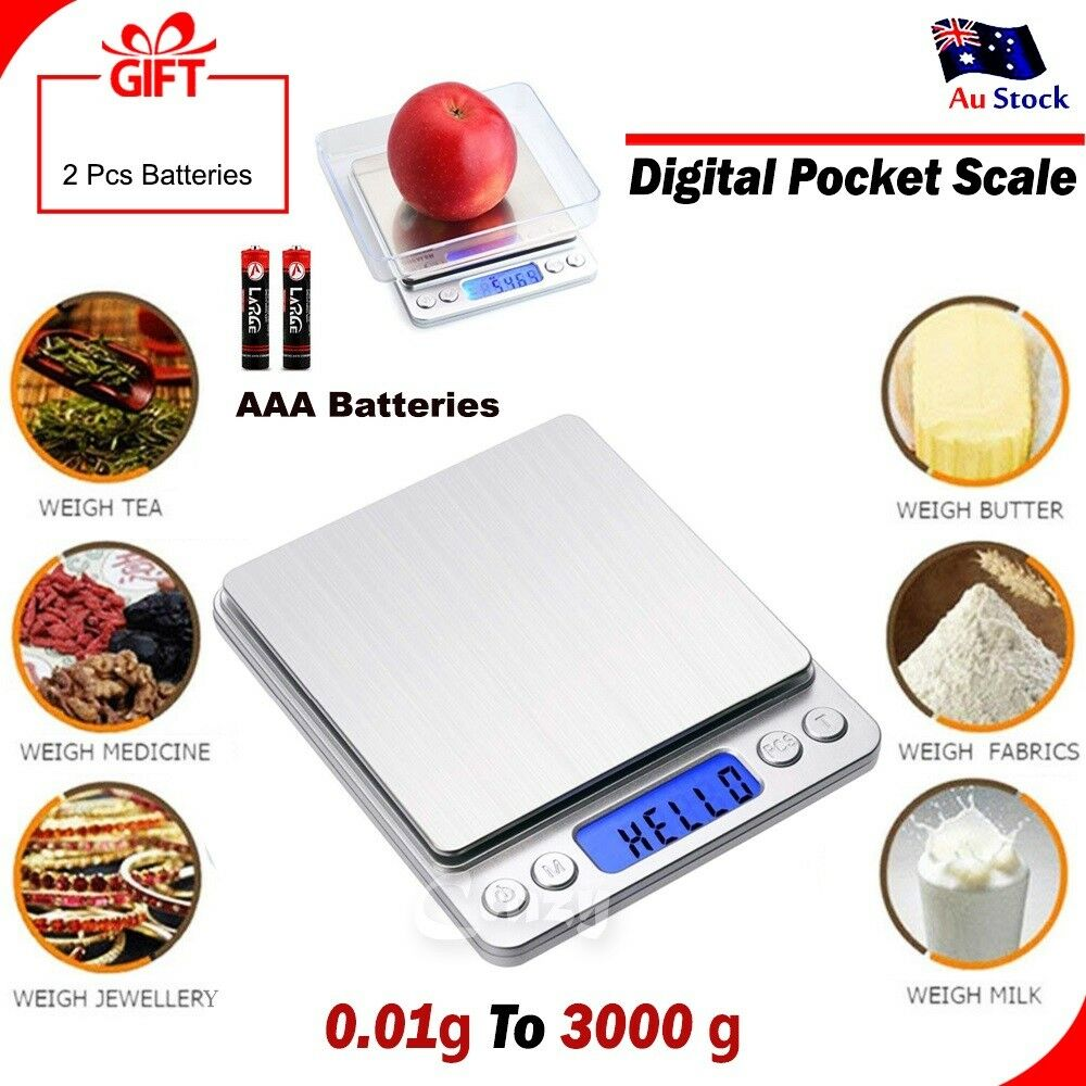Details about 0 1g 3000g mini electronic digital pocket gold jewellery weighing kitchen scales