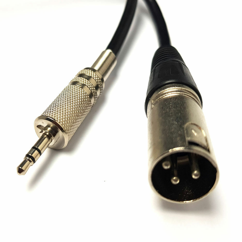 3 5mm Jack Plug To 3 Pin Xlr Male Cable Laptop Microphone