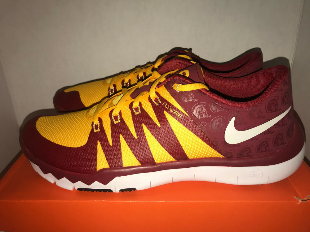 brand new 0c703 7bd77 Details about Nike Free Trainer 5.0 V6 Amp USC Trojans Mens Size 14