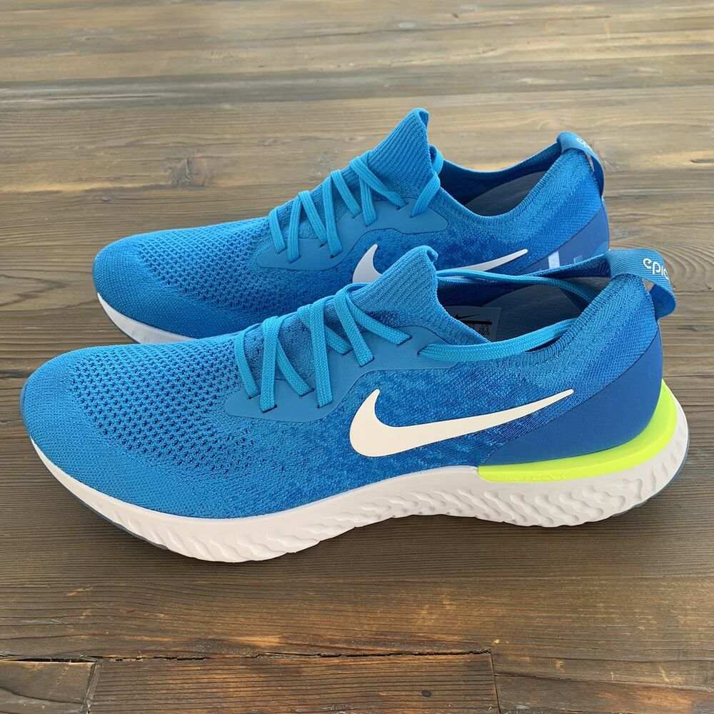 5990937684a3 Details about New Nike Epic React Flyknit Running Shoes Mens Size 11.5 US  AQ0067-401 Blue Glow