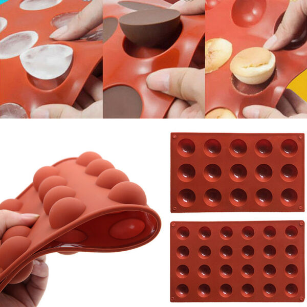 Half Ball Sphere Silicone Cake Mold Muffin Chocolate Cookie Baking Mould Decor
