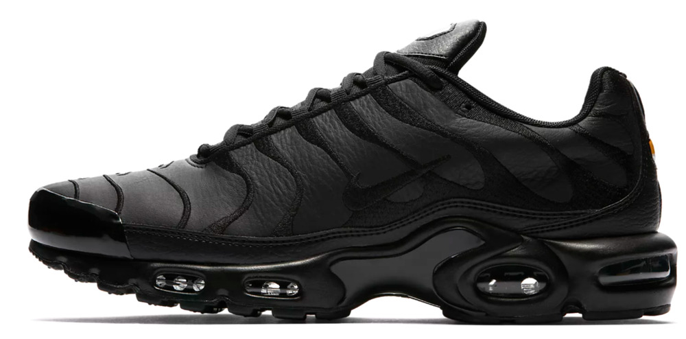 9dc1e24bd3776a Nike Air Max Plus TN  Triple Black  Leather AJ2029-001 Men Shoe 100%Authentic  DS
