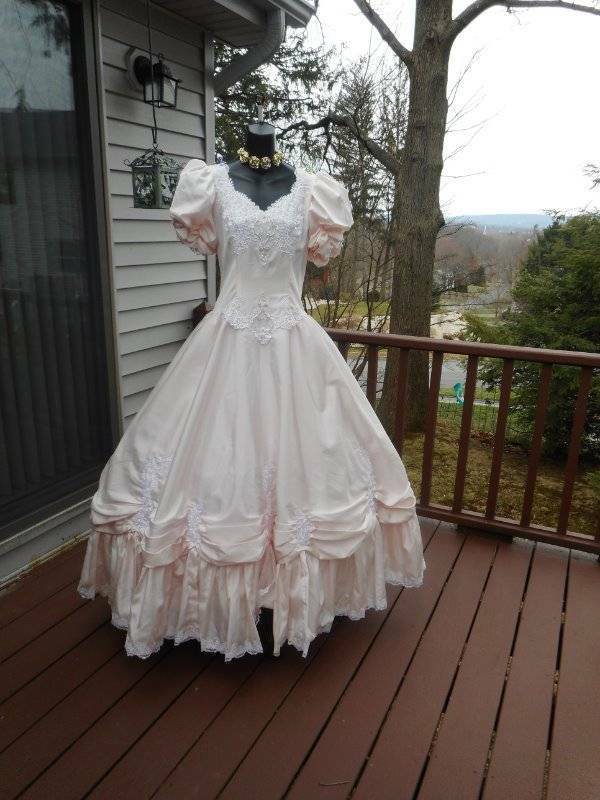 43371ef8b5 Rare plus size 80s prom dress pink rental only tagged size 20 best in show
