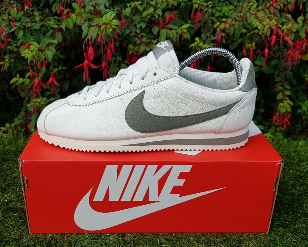 Details about BNWB Genuine Nike ® Classic Cortez Leather SE Sail Stucco  Trainers UK Size 10.5 d29516f293f4