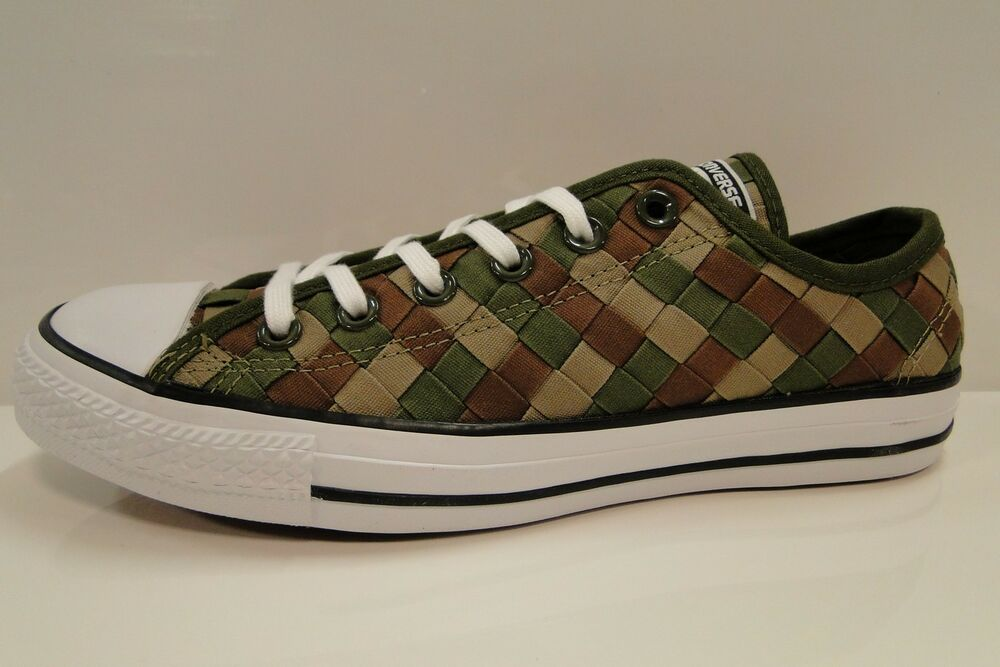e38cb2088279f1 CONVERSE CT All Star OX woven 151242C HERBAL KHAKI Unisex Trainers mens 7  wmns 9