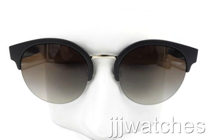 ab559e6642 Details about New Burberry Black Round Semi-Rimless Brown Gradient  Sunglasses BE4241 346413 52