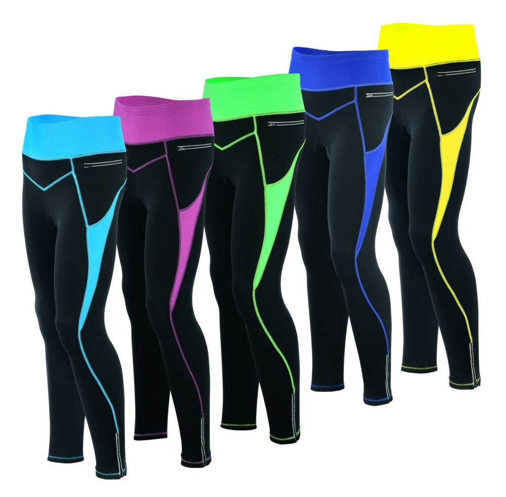 66df843c586 Women Winter Cool Max Padded Cycling Tights Trousers Running Thermal  Leggings