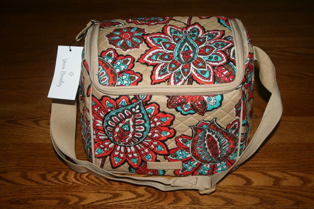 f4cfb2cf8b1e Details about Vera Bradley ICONIC STAY COOLER DESERT FLORAL lunch bunch bag  work tote sack