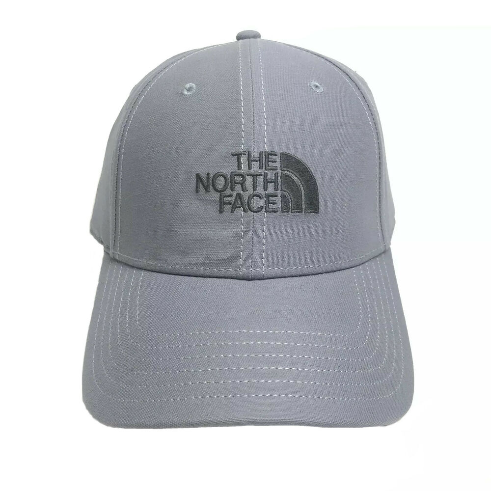 Details about NEW The North Face Strapback Hat One Size Adjustable Gray or  Blue Dad Cap Unisex 4c91bf67907