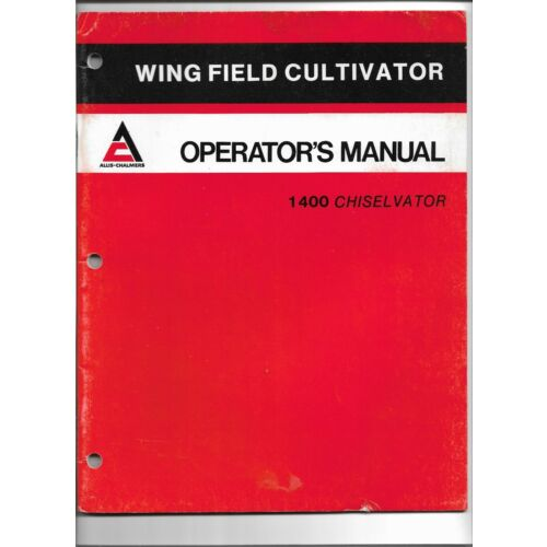 oe-allis-chalmers-1400-series-chiselvator-wing-field-cultivator-operators-manual