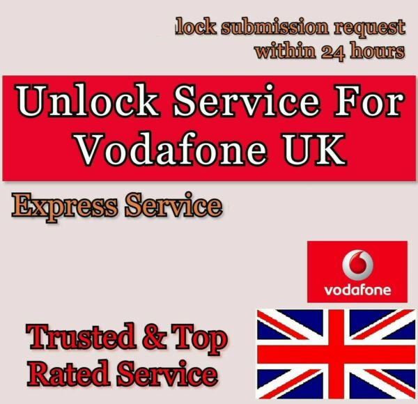 Vodafone Express ✅ 1-6 Days UK Unlock service code For iPhone 6s 6 plus 7 8 8+