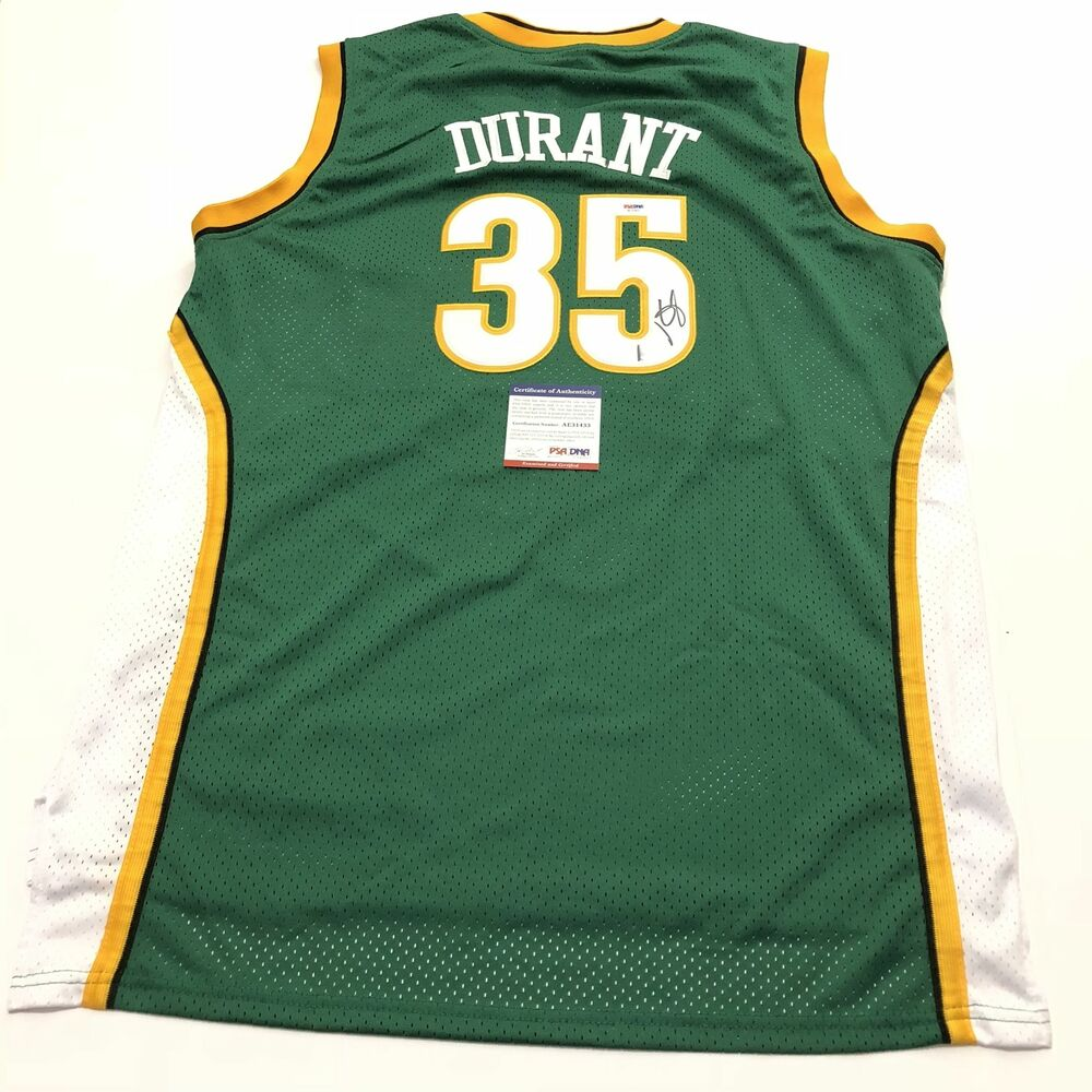 pretty nice 5b306 1cc5a Kevin Durant signed jersey PSA/DNA Seattle Supersonics Autographed Warriors  | eBay