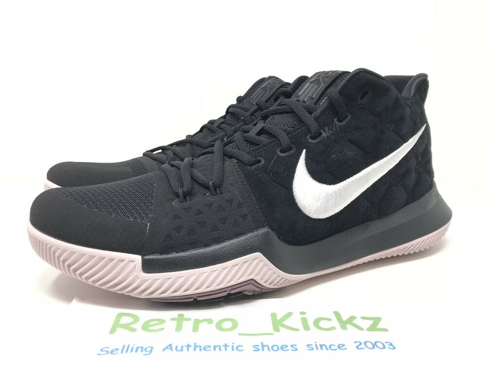 3163dc961a7b95 Details about 852395 010 NIKE KYRIE III 3 BLACK WHITE SILT RED BASKETBALL  SHOES SIZE 12
