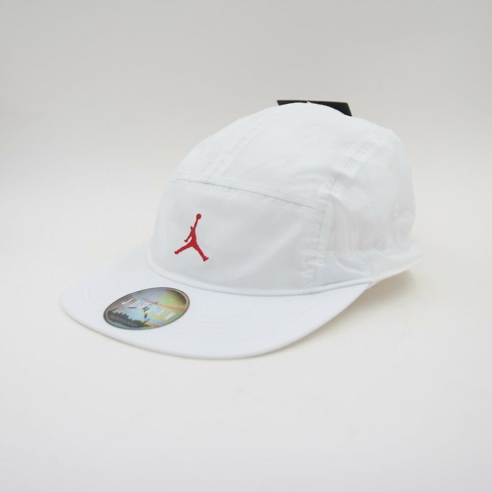 Details about New Mens Nike Air Jordan Jumpman Five 5 Panel Toggle Cap Hat  White OS 918441 100 4b4e9a81d6df