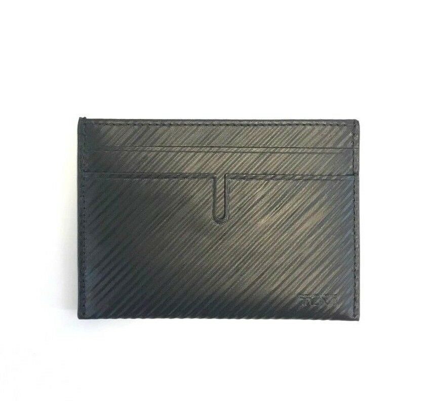 c47fa71a57cb Details about BRAND NEW MEN S TUMI NASSAU BLACK EMBOSSED LEATHER SLIM CARD  CASE ID WALLET