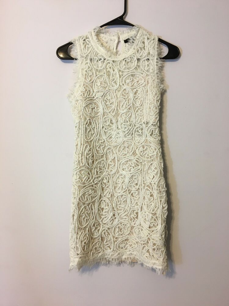 Forever 21 Textured Lace Dress Women S Size S White Ebay