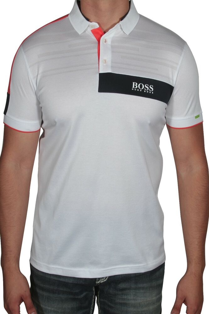 c9dcb836b Details about Hugo BOSS Men's Polo Shirt Paddy MK 1 Short Sleeve 50392740  100 White