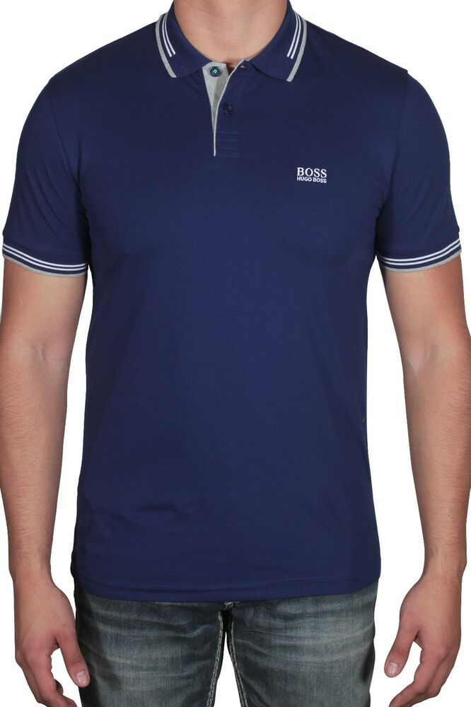 6493efa9c Details about Hugo BOSS Men's Polo Shirt Paul Short Sleeve Slim Fit  50332503 407 Dark Blue