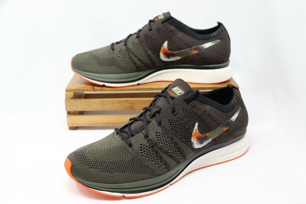 d59a47ff8cdb Details about Nike Flyknit Trainer Shoes Velvet Brown Olive White AH8396-202  Men s NWOB