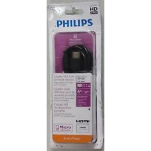 Philips 6 Ft Micro HDMI To HDMI Cable - SWV2462H/27