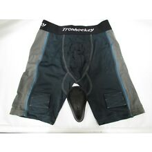 Tron Men`s Compression Fit Ice-Hockey Jock Shorts with Cup (Senior-Large)