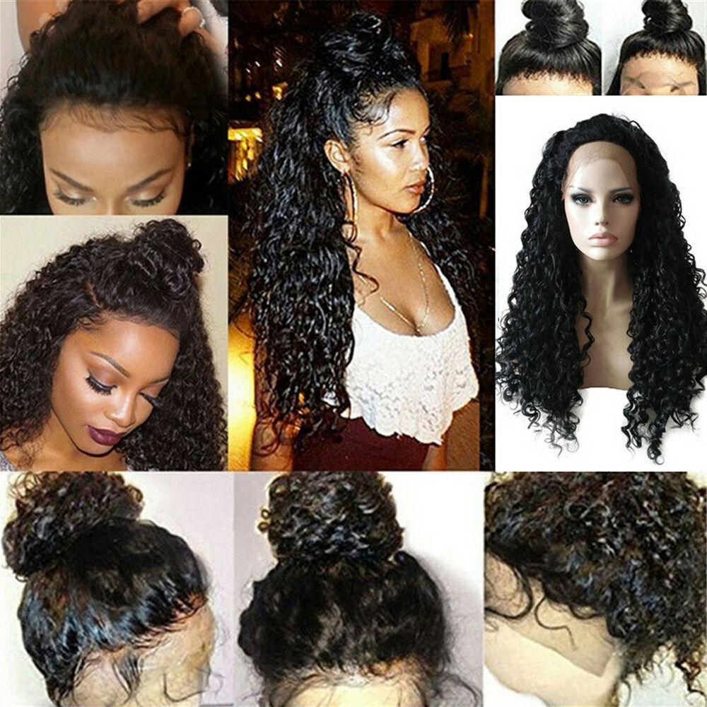 Details about Curly Wig Glueless Full Lace Wigs Black Women Indian Remy  Human Hair Lace Front eb6eb766d2