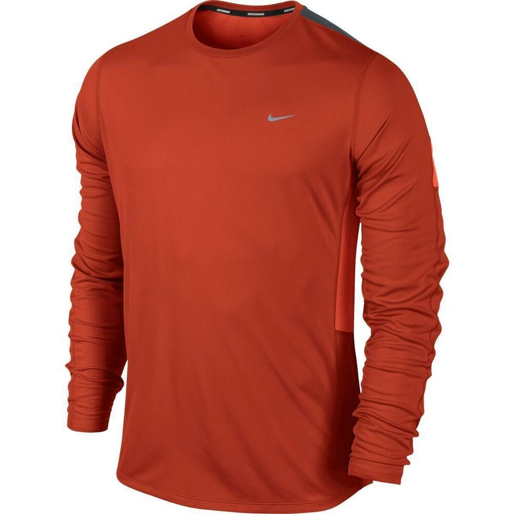 8388bea9 Details about New Mens Nike Long Sleeve Lightweight Racer Running Top Size  Small