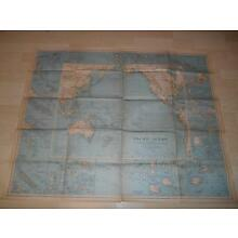 Old Vtg 1936 PACIFIC OCEAN WALL MAP 39