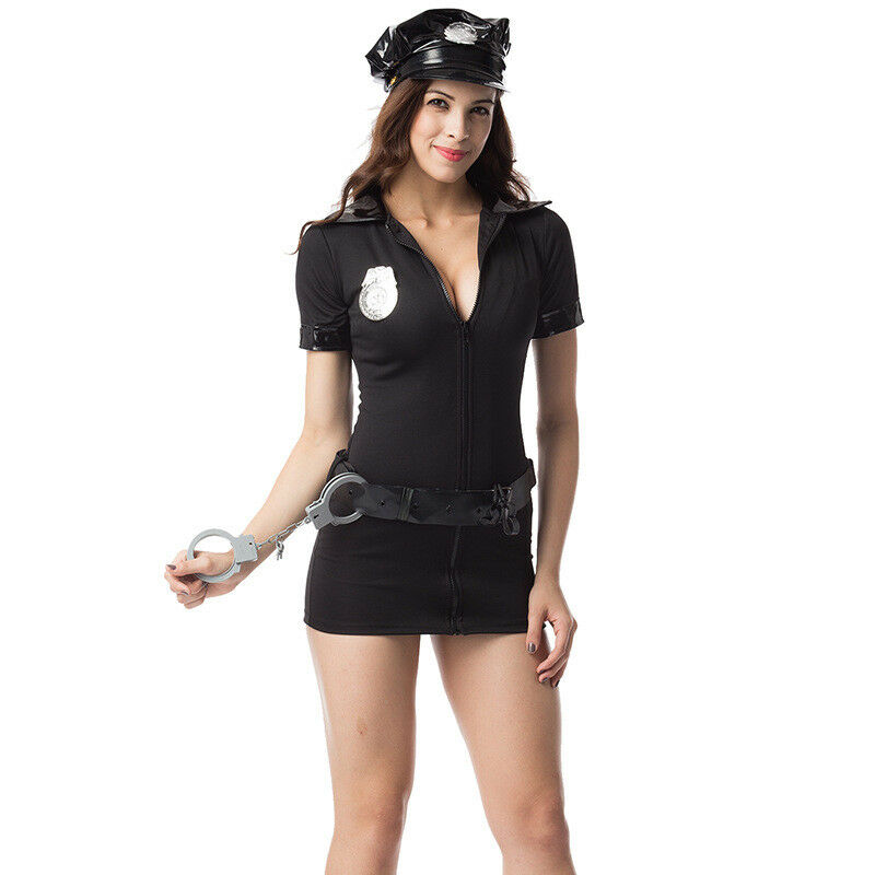 Details about Women Police Christmas Costume Cosplay Dress Cop Uniform Sexy  Policewomen Cloth f7b470290dcf