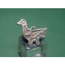 ANCIENT SILVER BIRD PENDANT BYZANTINE 400-600 AD * Holiday reduced prices