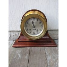 HAND-MADE SOLID MAHOGANY SHIP'S CLOCK/BAROMETER STAND for a 4 1/2