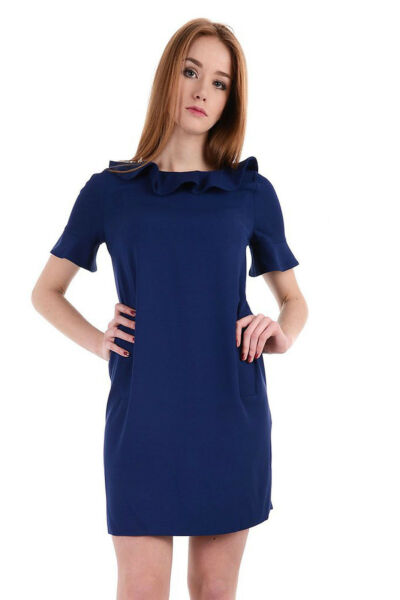 TWIN-SET Simona Barbieri ABITO VESTITO Blu 40 ROBE WOMEN DRESS KLEID ROBE