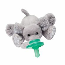 Nookums Paci-Plushies Elephant Buddies - Pacifier Holder (Plush Toy Includes ...