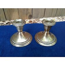 Gorham Weighted Sterling Candle Holders, Pair