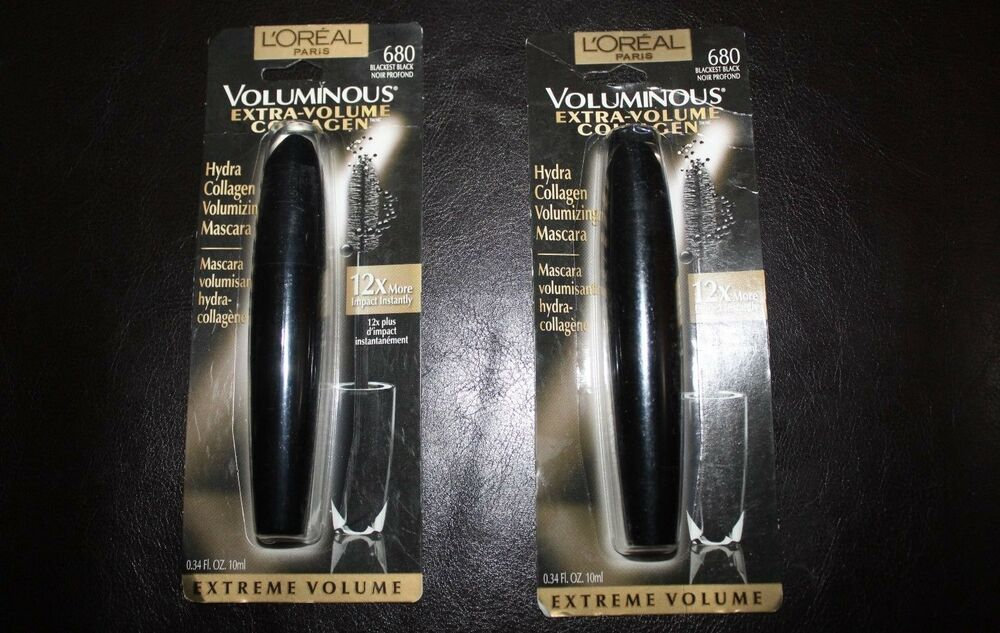 2d51a7f166f Details about LOT OF 2 L'Oreal Voluminous® Extra-Volume Collagen Mascara  680 Blackest Black