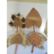 5 x Micronesia fans collection Vintage still with great colors handwoven 18