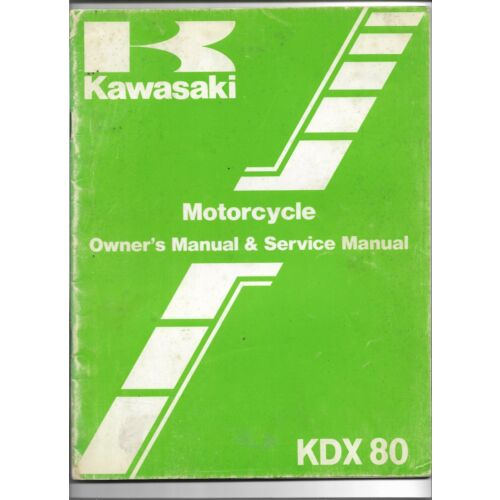 original-oe-oem-kawasaki-kdx80-motorcycle-owners-service-manual-99920121701