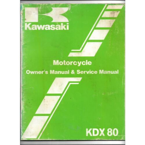 original-oe-oem-kawasaki-kdx80-motorcycle-owners-service-manual-99920125301