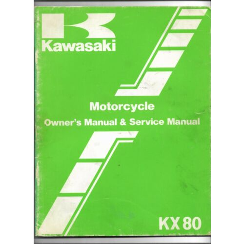original-oe-oem-kawasaki-kx80-motorcycle-owners-service-manual-99920121301