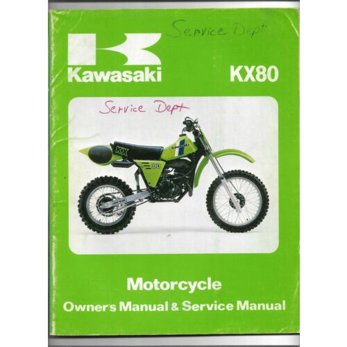 original-oe-oem-kawasaki-kx80-motorcycle-owners-service-manual-99920112401