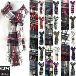 Kyпить Winter Men Women Warm 100% Cashmere Scotland Made Plaid Scarf Wraps Wool Scarves на еВаy.соm