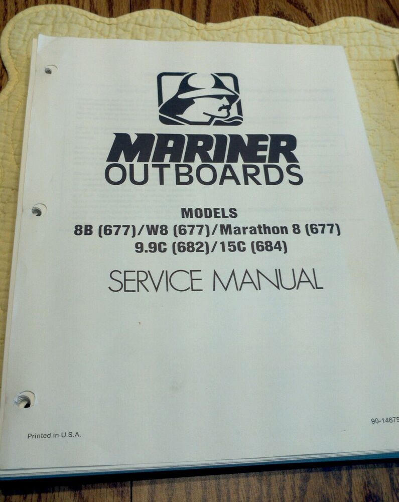 Maintenance & Service Manual Mercury Mariner Outboard Motor 8. 9.9 & 15 HP  PDF | eBay
