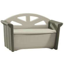 Rubbermaid 32 Gal. Resin Patio Storage Bench