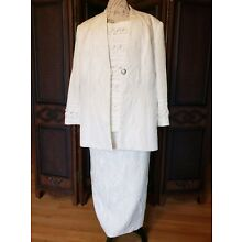 Womens Formal Skirt Suit, size 24w, white