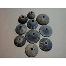 10 ANCIENT SPINDLE WHORLS 1200-500 BC Price Reduced for the Holidays *