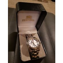 Festina Chrono Bike Watch W/ Box Nice!